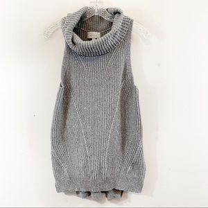 Anthropologie Angel of The North Sweater Vest Gray